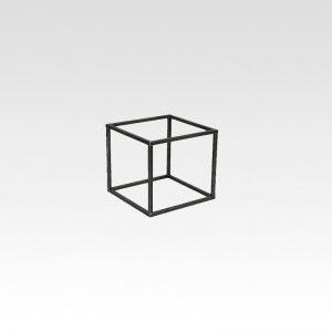stalen tafelpoot kubus
