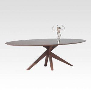 massief houten design tafel