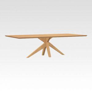 massief houten tafelpoot design