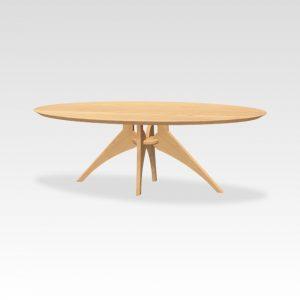 eikenhouten design tafel ovaal