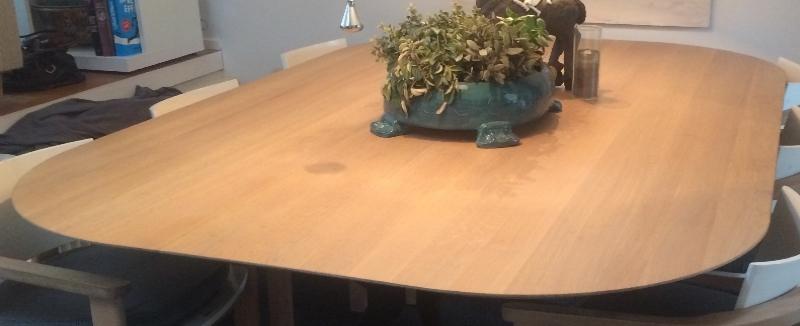 noestvrij eiken tafelblad