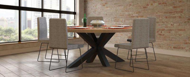 massief houten tafelblad rond