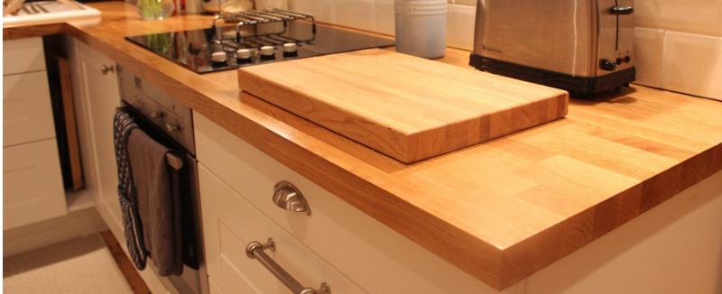 massief houten keukenblad op maat