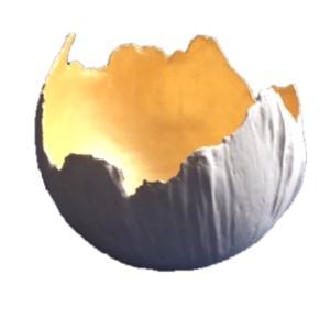 bolvaas 35 cm wit/goud