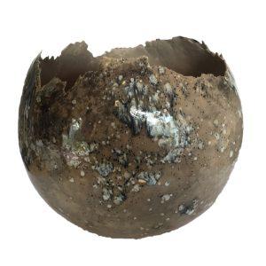 bolvaas 35 cm zwart lever