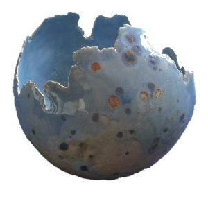 bolvaas 35 cm hemelblauw