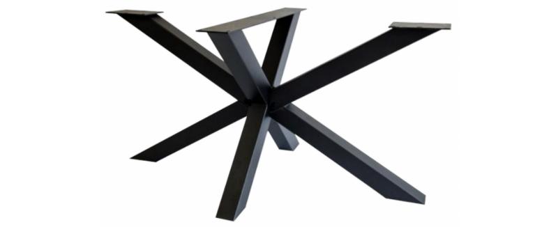modern stalen onderstel tafel