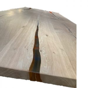 eiken met epoxy tafelblad 2800cm